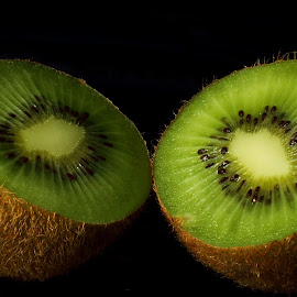 Kiwi by Sanjib Paul - Food & Drink Fruits & Vegetables ( fresh, kiwi, half, eating, kiwifruit )