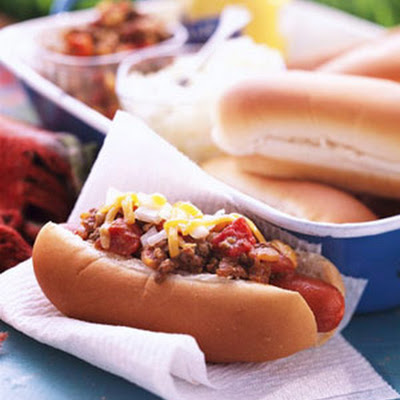 Beefy Chili Dogs