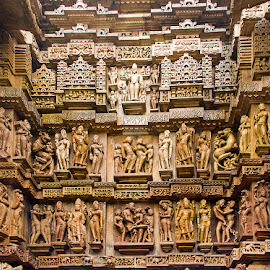 Khajuraho by Amit Aggarwal - Buildings & Architecture Statues & Monuments ( sculptures, temples, mp, stone work, khajuraho, india )