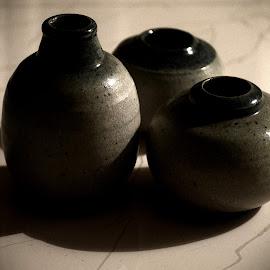 Ceramic Potteries by Prasanta Das - Artistic Objects Cups, Plates & Utensils ( glazed, ceramic, potteries )