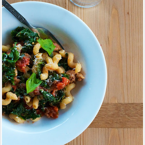 Cavatappi with Sausage & Kale