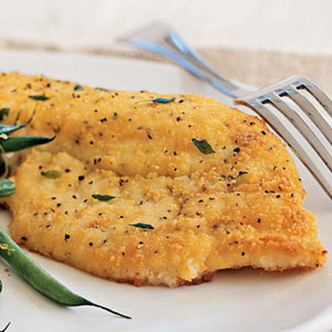 Potato-Crusted Yellowtail Snapper
