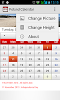 Screenshot of Poland Calendar