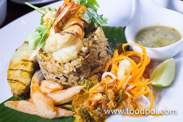 Tom Yum Fried Rice with Grilled Seafood @ KomPassion Thai Fusion Food ...