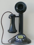 Candlestick Phones - AE Bakelite Bottom Low Boy Candlestick Phone