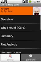 Screenshot of Anthem: Shmoop Guide