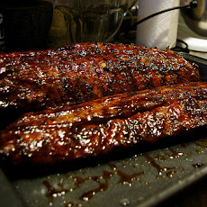 Spicy Honey-Glazed Baby Pork Ribs (Wolfgang Puck)