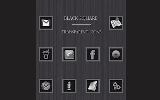 Screenshot of Black Square Transparent Icons