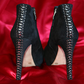 womens shoes by Tiecha Broussard - Artistic Objects Clothing & Accessories ( shoes, sexy, red, women, black,  )