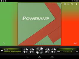 Screenshot of Poweramp skin Dark Metallic