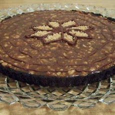 Chocolate Peanut Butter Tart With Caramel-Peanut Glaze