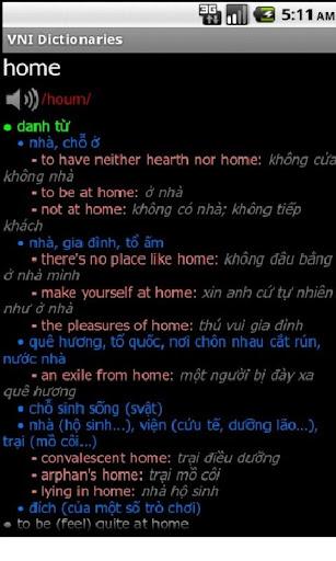 VNI Dictionary EV