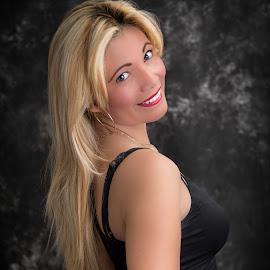 blondie  by Rico Eche - People Portraits of Women ( studio, blonde, smile, portrait, eyes )