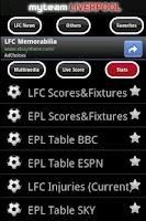 Screenshot of MyTeam Liverpool FC