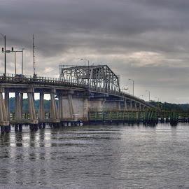 Woods Memorial Bridge, Beaufort SC by Keith Wood - Buildings & Architecture Bridges & Suspended Structures ( woods memorial bridge, kewphoto, sc, turning bridge, keith wood )