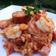 Smoked Sausage and Prawn Jambalaya