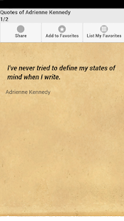 Quotes of Adrienne Kennedy - screenshot