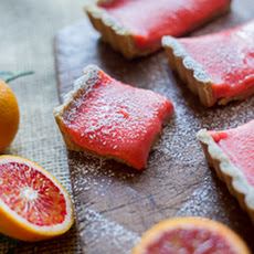 Blood Orange Bars w/ Brown Butter Crust