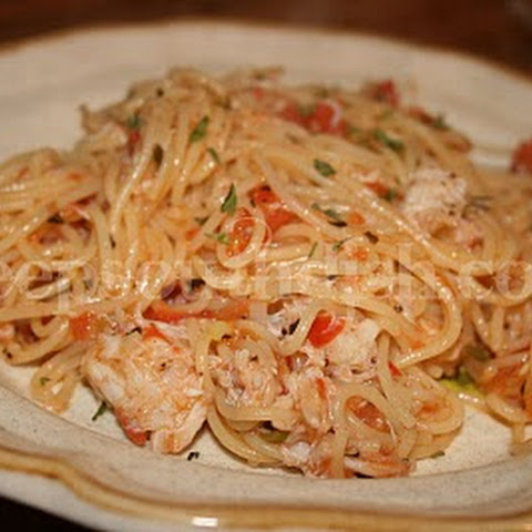 Angel Hair Pasta With Crab