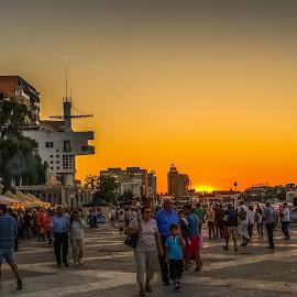 Tulcea by Ionel Lupu - City,  Street & Park  Street Scenes