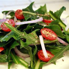 Simple Dandelion Green Salad