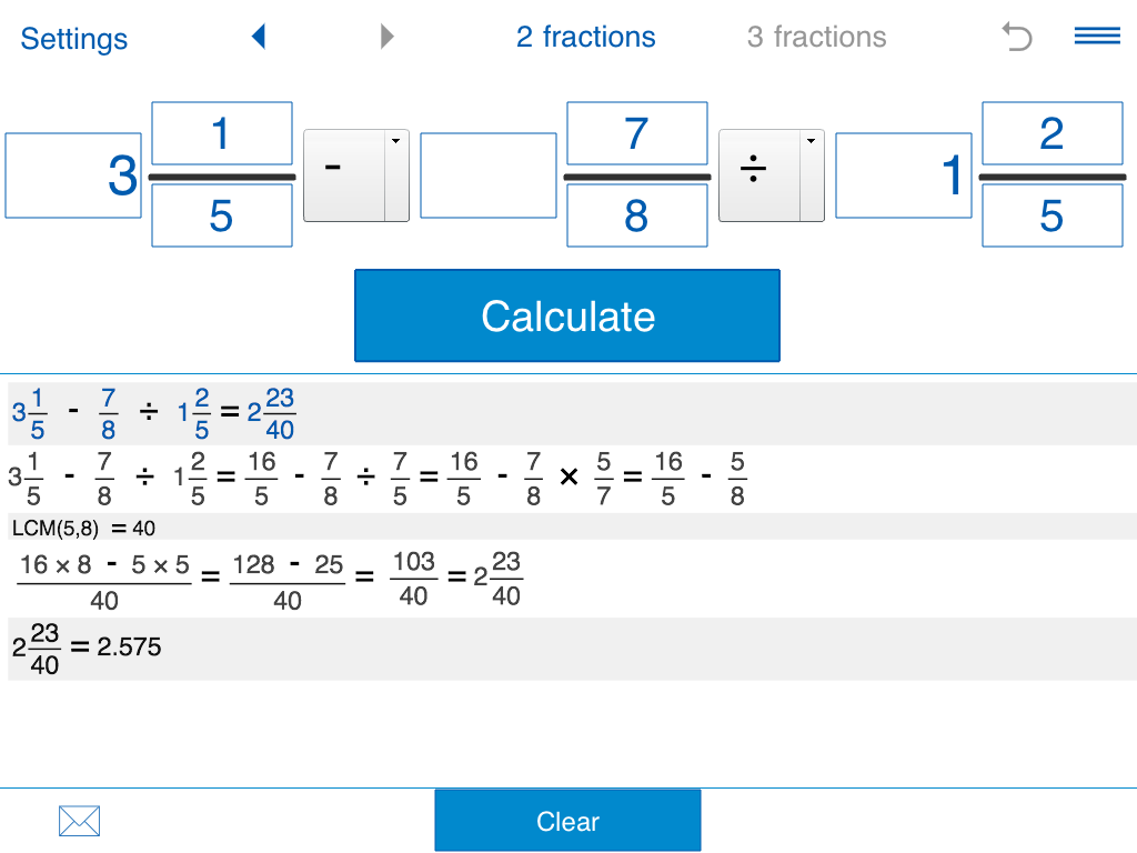 Fraction calculator Screenshot 11