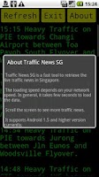 Screenshot of SG Traffic News
