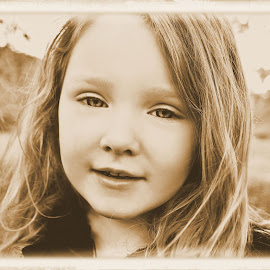 Waiting for Fall by Cheryl Korotky - Babies & Children Child Portraits