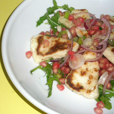 Halloumi & Pomegranate Salad