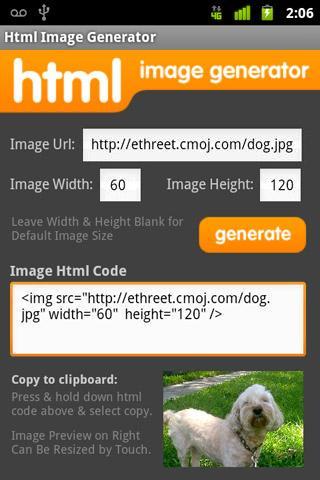 Html Image Generator