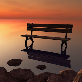 Sea_Bench [3D] by Jamie Keith - Illustration Places