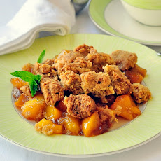 Mango Peach Coconut Crumble