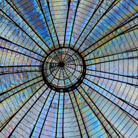 Transparent ceiling of a dome. by Joey Tomas - Abstract Patterns ( abstract, patterns, interiors, ceilings, artistic objects,  )