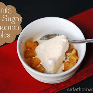 1 Minute Brown Sugar and Cinnamon Apples