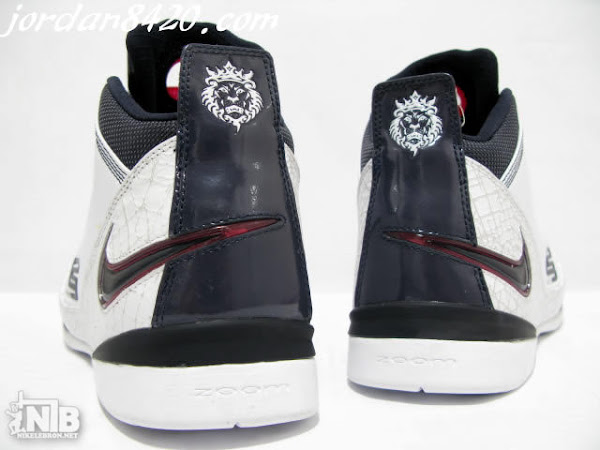 Zoom LeBron Soldier II White Navy Red Real Pics