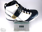 lebron5 white navy strap ounce Weightionary