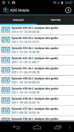 Analyse des Geeks Mobile