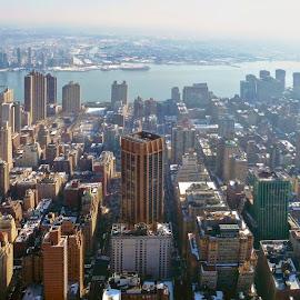 New York City skyline by Daniel Dudek-Corrigan - City,  Street & Park  Skylines ( sky scrapers, buildings, view, new york city, new york, nyc, panorama, city )