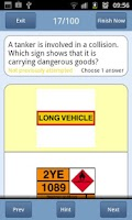 Screenshot of PCV Theory Test UK Lite