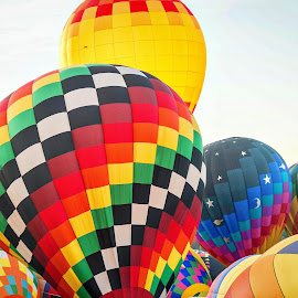 Carolina Balloon Fest by Lou Plummer - Transportation Other ( iredell county, hot air balloon, colors, balloon fest, balloon, north carolina )
