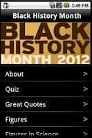 Screenshot of Black History Month 2013