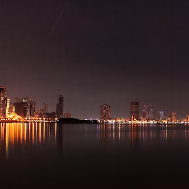Sharjah, UAE by Kaustav Dutta - City,  Street & Park  Skylines