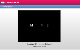 Screenshot of Learn Croatian