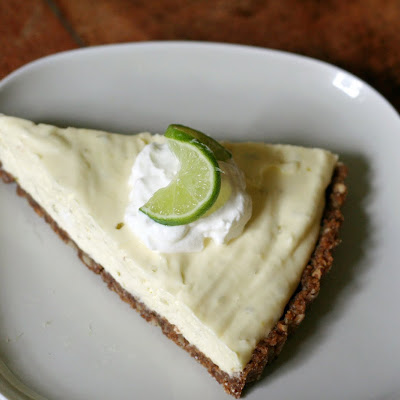 Key Lime Pie with Pecan Gingersnap Crust