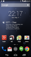 Screenshot of BetterWeather for DashClock