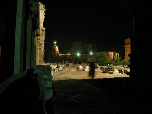 Brihadishwara temple at night, nice shadow effect