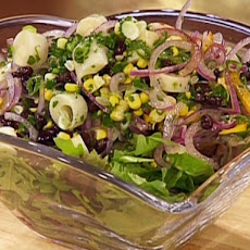 Hearts of Palm, Black Bean, Red Onion and Corn Salad