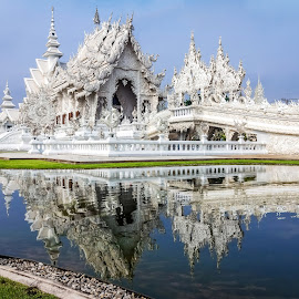 Wat Rong Khun by Low YingTong - Buildings & Architecture Places of Worship ( temple, religion, building, reflection, thailand, architecture, worship )