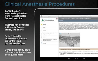 Screenshot of Clinical Anesthesia Procedures