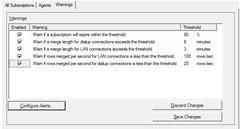 Replication Monitor: Warnings Tab